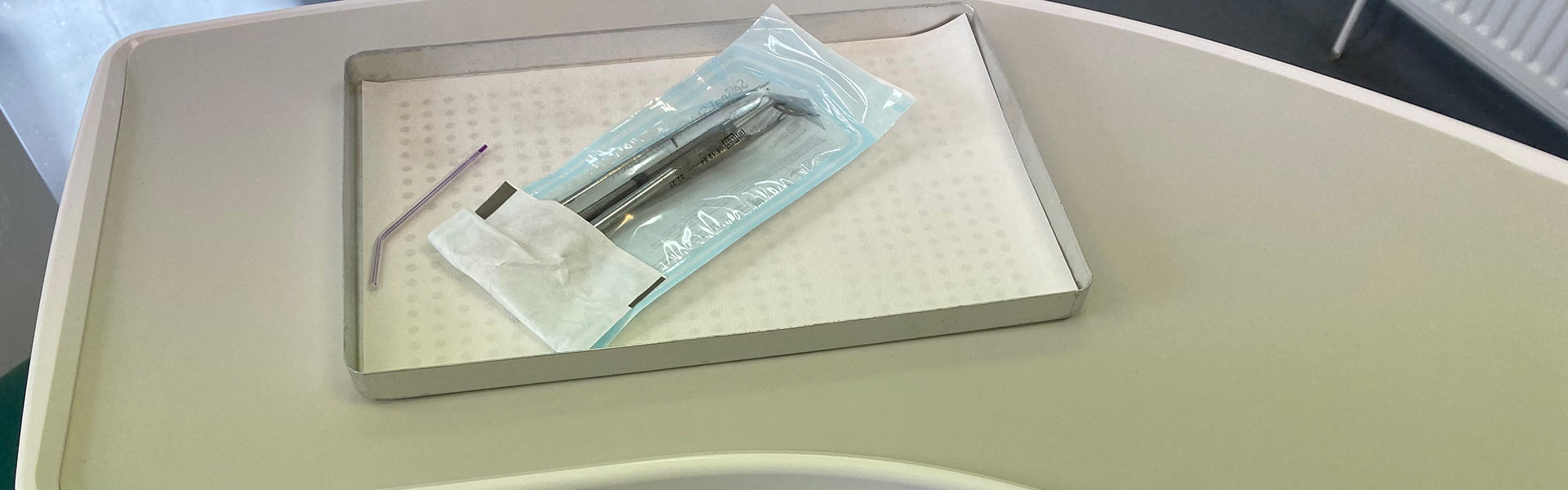 Sealed sterile dental instruments
