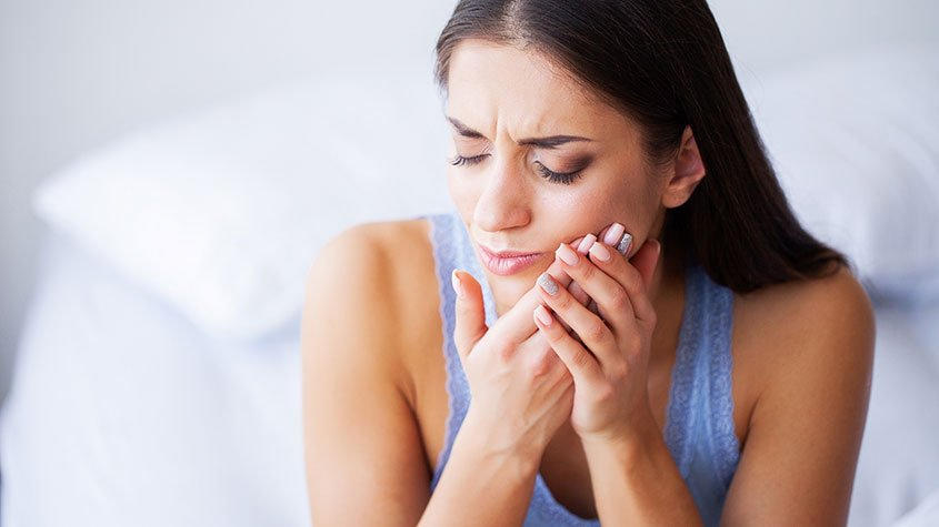 Facial pain caused by stress