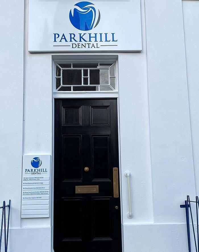 Parkhill Dental front door